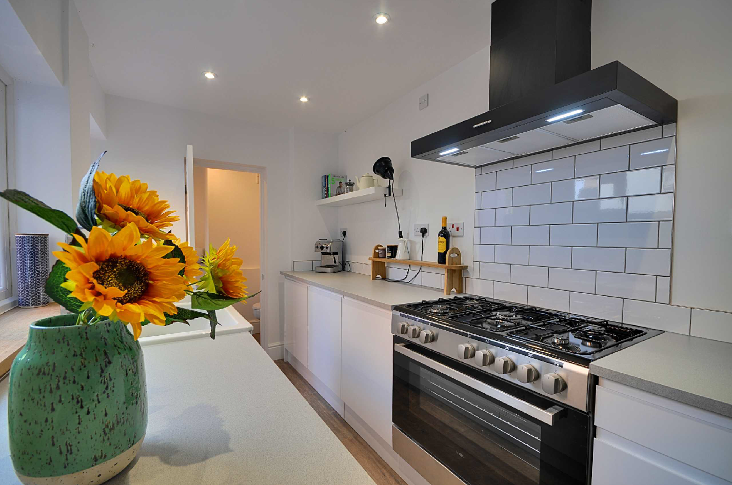 A well dressed kitchen in a property for sale